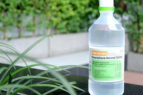 น้ำเกลือที่ใช้ในทางการแพทย์ ณ ปัจจุบัน